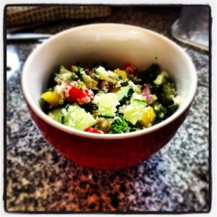 Yet another use for cauliflower.... grain free tabbouli!