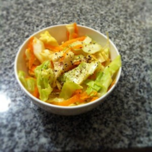 Coleslaw is so easy and cheap this time of year! Cabbage and carrot is a great base for a salad that will last 5 or so days in a Sistema container